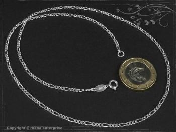 Figarokette  B2.2L75 massiv 925 Sterling Silber