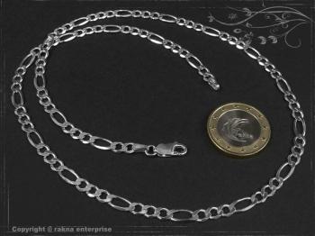 Figarokette  B4.5L80 massiv 925 Sterling Silber