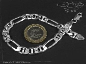 Figarucci  Panzerkette Armband B7.5L19 massiv 925 Sterling Silber