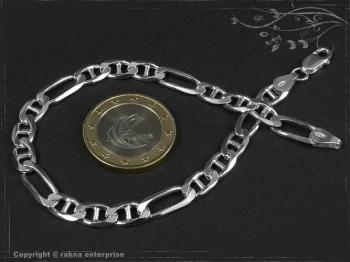 Figarucci  Panzerkette Armband B5.5L24 massiv 925 Sterling Silber