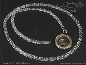 Königskette Flach B4.6L80 massiv 925 Sterling Silber