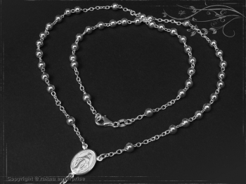Rosenkranz Design-Kugel-L89 massiv 925 Sterling Silber