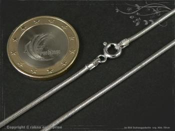 Schlangenkette D1.6L60 massiv 925 Sterling Silber
