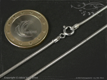 Schlangenkette D1.6L115 massiv 925 Sterling Silber