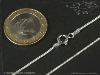 Schlangenkette D1.2L50 massiv 925 Sterling Silber