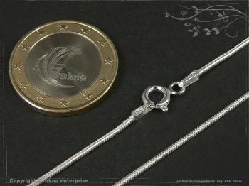 Schlangenkette D1.2L95 massiv 925 Sterling Silber