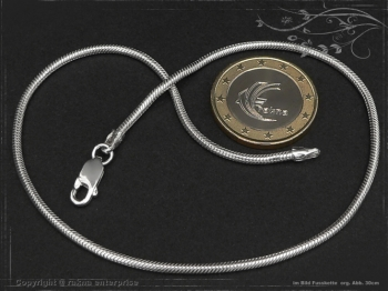 Fußkette Schlangenkette B2.0L29 massiv 925 Sterling Silber
