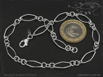Fußkette Silberkette Spring L28 massiv 925 Sterling Silber