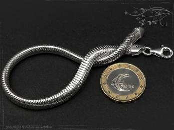 Schlangenkette Armband oval D6.0L22 massiv 925 Sterling Silber