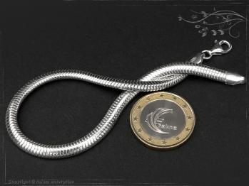 Schlangenkette Armband oval D4.5L25 massiv 925 Sterling Silber