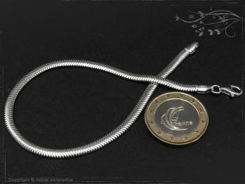 Schlangenkette Armband oval D3.5L17 massiv 925 Sterling Silber