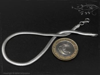 Schlangenkette Armband oval D3.5L20 massiv 925 Sterling Silber