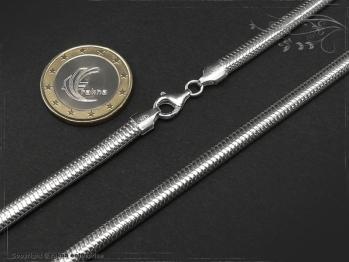 Schlangenkette oval D4.5L45 massiv 925 Sterling Silber