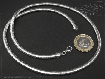 Schlangenkette oval D4.5L95 massiv 925 Sterling Silber