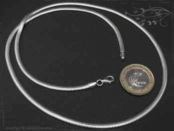 Schlangenkette oval D3.5L65 massiv 925 Sterling Silber