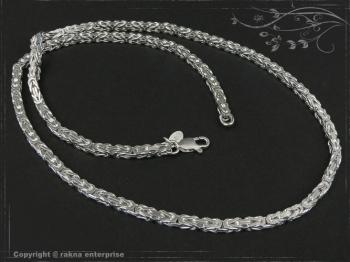Königskette B3.5L55 massiv 925 Sterling Silber