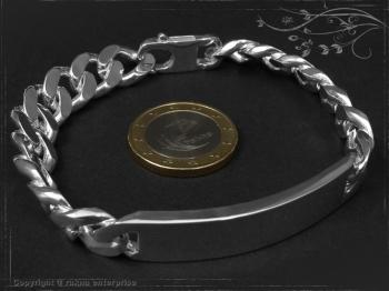 ID Panzerarmband Gravur-Platte B10.5L19 massiv Keramik - Edelstahl