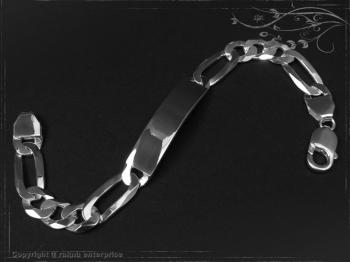 ID Figaroarmband Gravur-Platte B10.0L24 massiv Keramik - Edelstahl