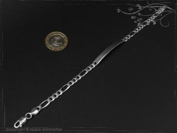 ID Figaroarmband Gravur-Platte B5.5L21 massiv 925 Sterling Silber