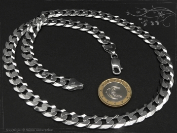 Panzerkette B10.0L100 massiv 925 Sterling Silber