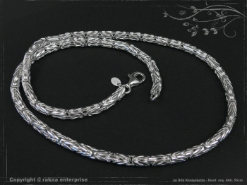 Königskette Rund B4.0L100 massiv 925 Sterling Silber