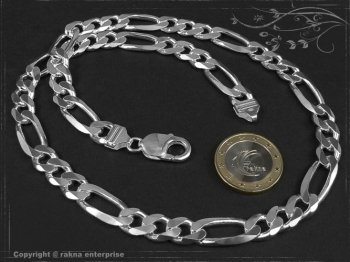 Figarokette  B9.0L90 massiv 925 Sterling Silber