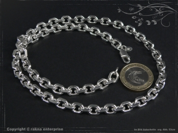 Ankerkette B6.5L40 massiv 925 Sterling Silber