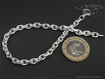 Ankerkette Armband B4.5L22 massiv 925 Sterling Silber