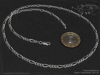 Figarokette  B3.4L75 massiv 925 Sterling Silber