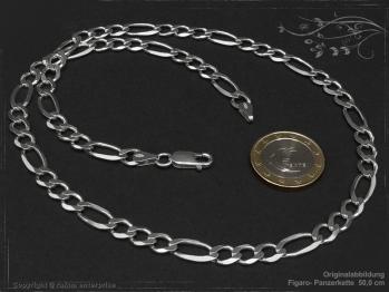 Figarokette  B6.5L75 massiv 925 Sterling Silber