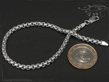 Silberkette Armband Venezia Ru B3.7L19 massiv 925 Sterling Silber