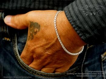 Silberkette Armband Venezia Ru B3.7L21 massiv 925 Sterling Silber