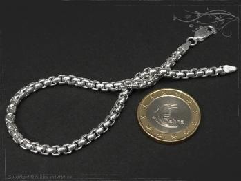 Silberkette Armband Venezia Ru B3.7L24 massiv 925 Sterling Silber
