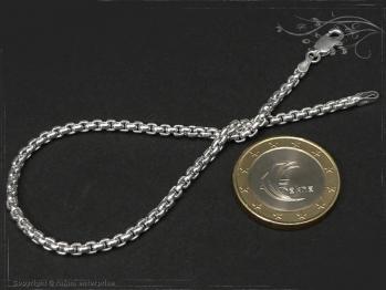 Silberkette Armband Venezia Ru B2.7L22 massiv 925 Sterling Silber