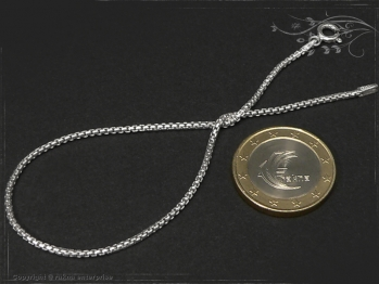 Silberkette Armband Venezia Ru B1.5L22 massiv 925 Sterling Silber