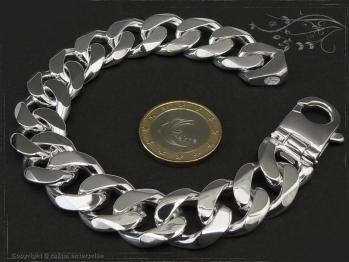 Panzerarmband B16.0L25 massiv 925 Sterling Silber