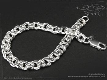 Garibaldikette Armband B8.5L17 massiv 925 Sterling Silber