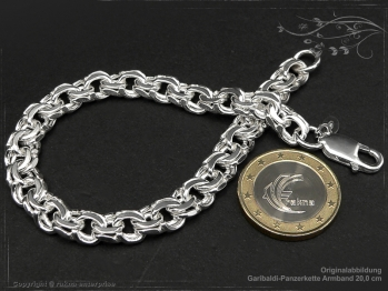 Garibaldikette Armband B8.5L18 massiv 925 Sterling Silber