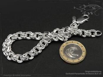 Garibaldikette  Armband B8.5L19 massiv 925 Sterling Silber