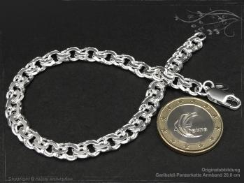 Garibaldikette  Armband B7.0L18 massiv 925 Sterling Silber