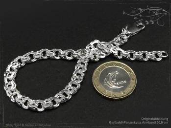 Garibaldikette  Armband B7.0L19 massiv 925 Sterling Silber