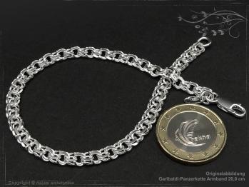 Garibaldikette  Armband B5.0L18 massiv 925 Sterling Silber