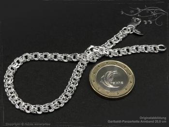 Garibaldikette  Armband B5.0L19 massiv 925 Sterling Silber
