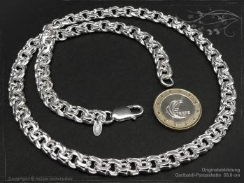 Garibaldikette  B8.5L75 massiv 925 Sterling Silber