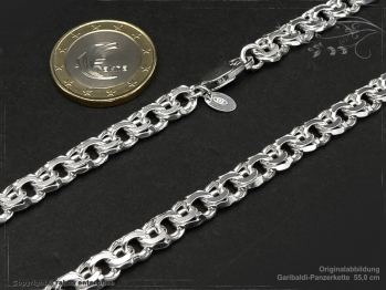 Garibaldikette  B7.0L45 massiv 925 Sterling Silber