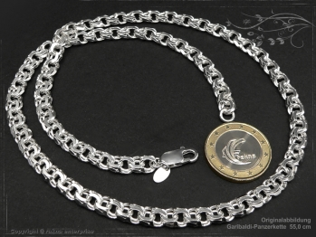 Garibaldikette  B7.0L85 massiv 925 Sterling Silber