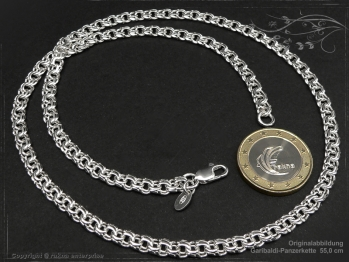 Garibaldikette  B5.0L70 massiv 925 Sterling Silber