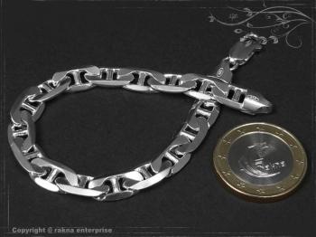 Steg Panzerkette Armband B7.5L24 massiv 925 Sterling Silber