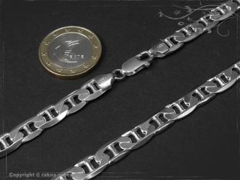 Steg Panzerkette B7.5L45 massiv 925 Sterling Silber