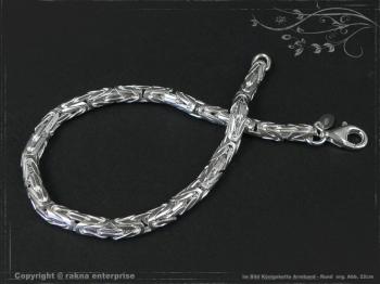 Königskette Armband Rund B4.0L25 massiv 925 Sterling Silber